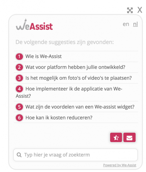 Machine Learning Widget We-Assist