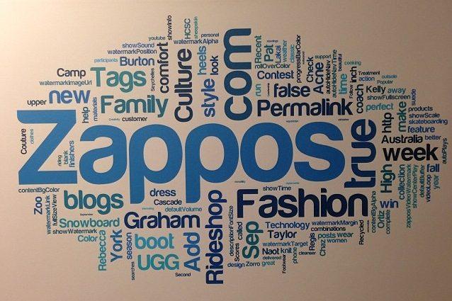 Zappos woordmuur Klantenservice